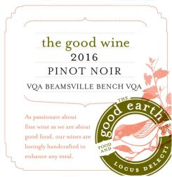 The Good Wine 2016 Pinot Noir