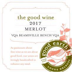 2017 Merlot label
