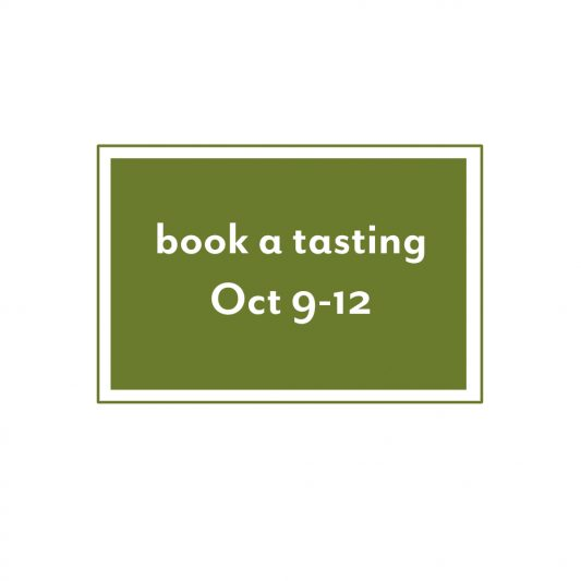 Book a tasting October 9-12