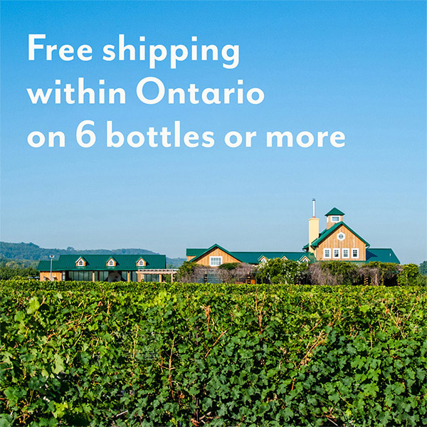 free shipping within Ontario on 6 bottles or more